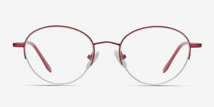 Red Opposition -  Colorful Metal Eyeglasses