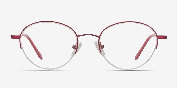 Rouge Opposition -  Coloré Métal Lunettes de Vue
