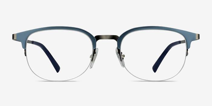 Light Blue Axiom -  Metal Eyeglasses