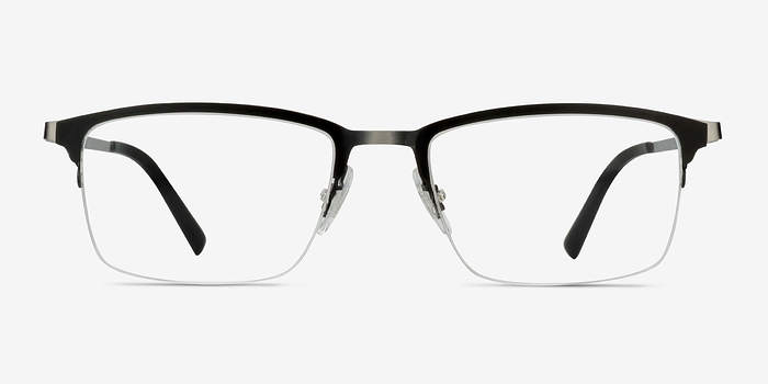 Matte Black Logic -  Metal Eyeglasses
