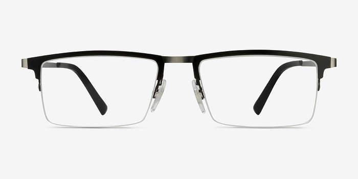 Vector Black Metal Eyeglasses EyeBuyDirect