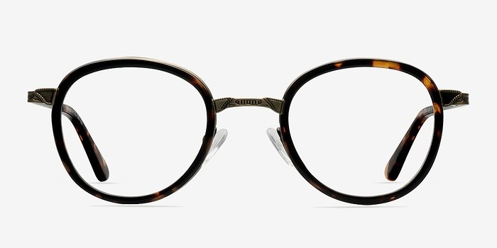 Tortoise Bourgeois -  Fashion Metal Eyeglasses