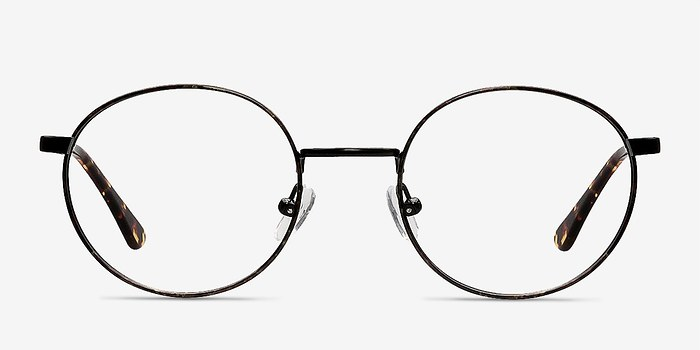 Black/Brown Santa Fe -  Metal Eyeglasses