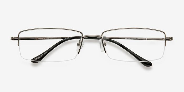 Minneapolis Gunmetal Metal Eyeglasses EyeBuyDirect