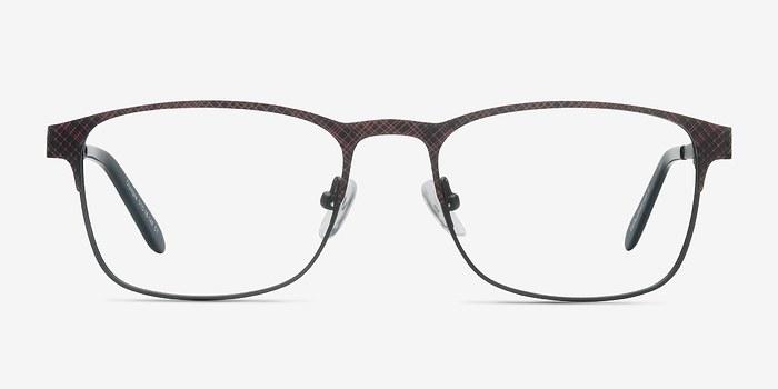 Red Gray Olympia -  Metal Eyeglasses