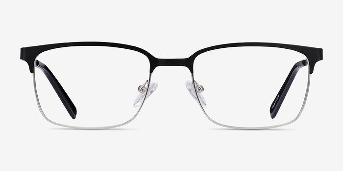 Black Silver Manchester -  Metal Eyeglasses