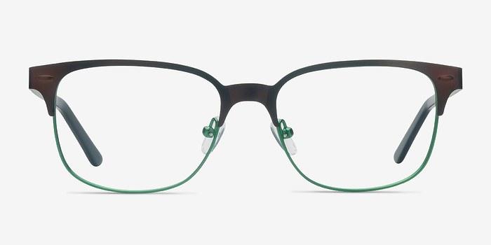 Brown Green Baker Street -  Classic Metal Eyeglasses