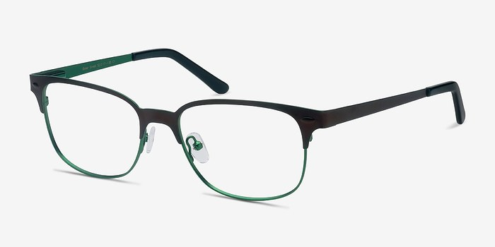 Baker Street Brown Green Metal Eyeglasses EyeBuyDirect