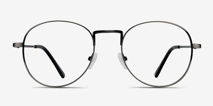 Gunmetal Shanghai -  Classic Metal Eyeglasses