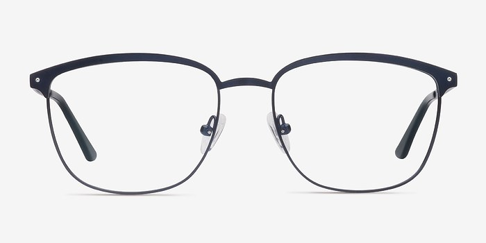Navy Lightbeam -  Metal Eyeglasses
