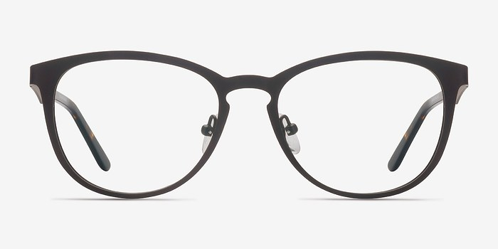 Matte Gray Neta -  Metal Eyeglasses