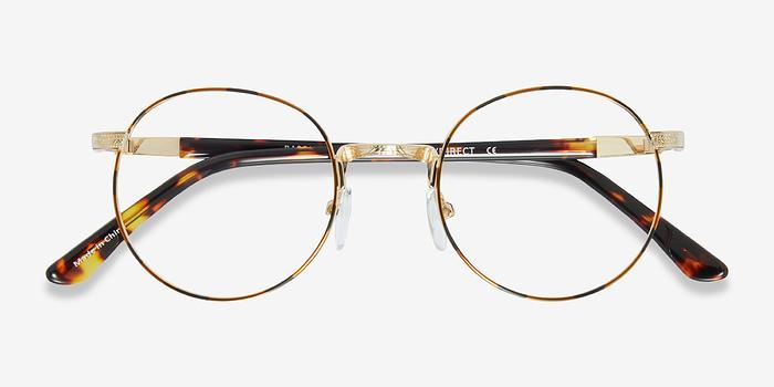 Frame Changers Glasses : Basquiat Golden/Tortoise Metal Eyeglasses EyeBuyDirect