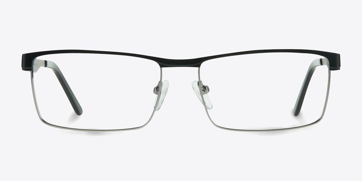 Eyeglass Frame Visualizer : Houdini Noir Metal Lunettes de Vue EyeBuyDirect