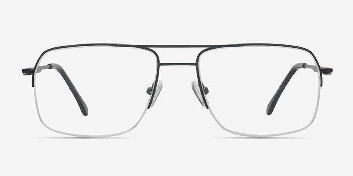 Black Tux -  Metal Eyeglasses