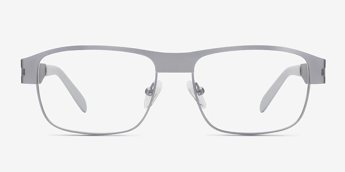 Matte Gray Wallace -  Metal Eyeglasses