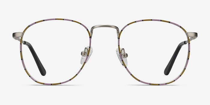 Silver Floral Blossom -  Vintage Metal Eyeglasses