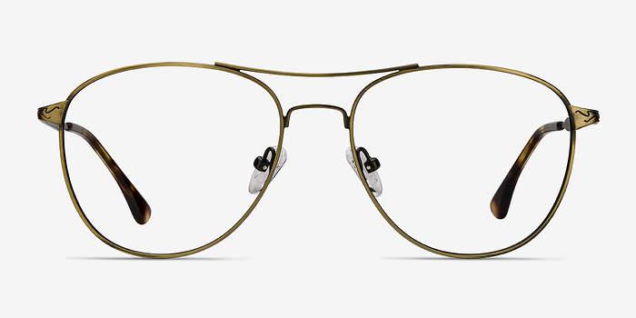 Bronze Westbound -  Vintage Metal Eyeglasses