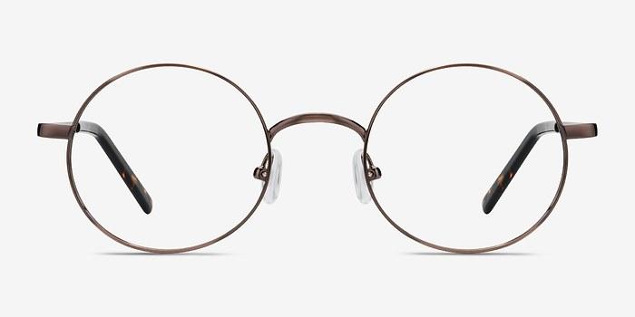 Brown Tortoise Socrates -  Vintage Metal Eyeglasses