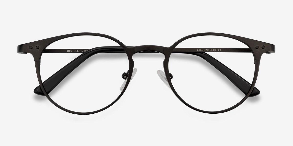 Thin Line | Coffee Metal Eyeglasses | EyeBuyDirect