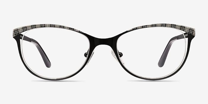 Black Gray Deco -  Metal Eyeglasses