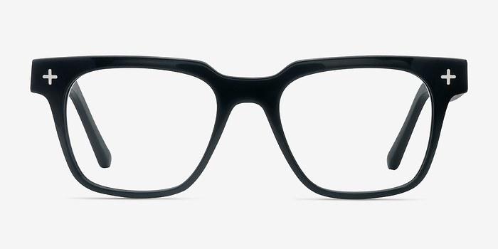 Black Oxford -  Fashion Wood Texture Eyeglasses