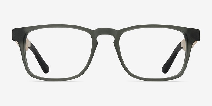 Gray Lincoln -  Designer Wood Texture Eyeglasses