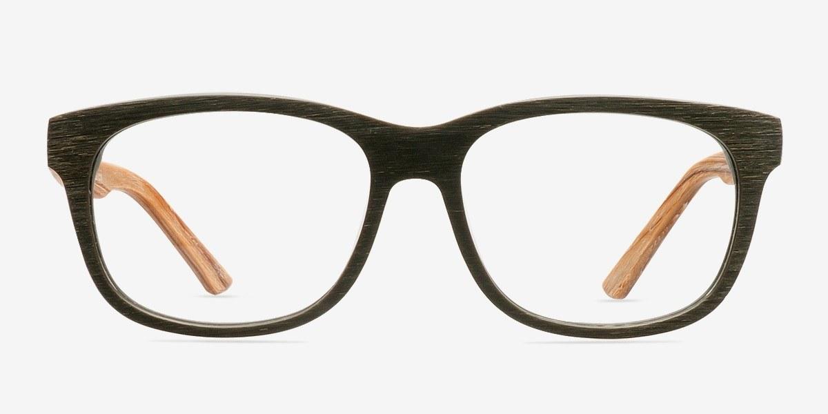 White Pine Olive Wood Texture Eyeglasses EyeBuyDirect