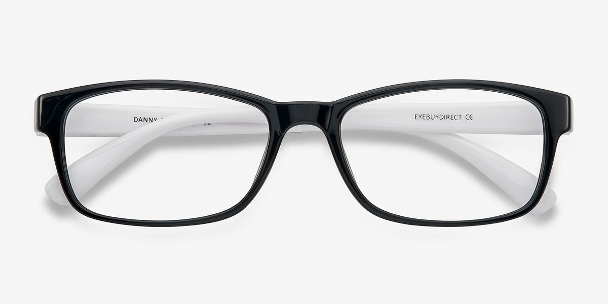 Danny | Black/White Plastic Eyeglasses | EyeBuyDirect