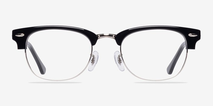 Black/Silver Sweet Jane -  Classic Acetate Eyeglasses