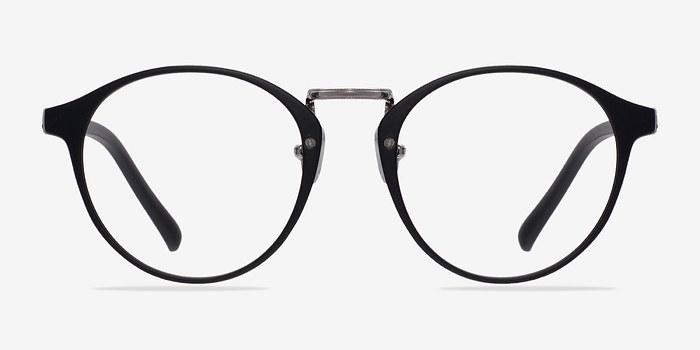 Matte Black/Silver Small Chillax -  Fashion Plastic Eyeglasses