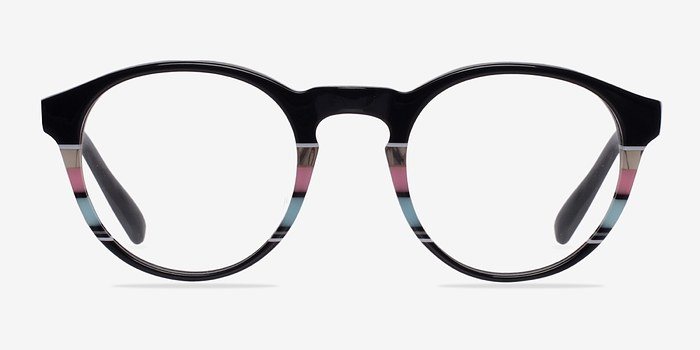 Black/Striped Perception -  Designer Acetate Eyeglasses
