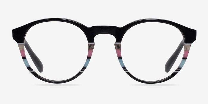Black/Striped Perception -  Designer Acetate Eyeglasses