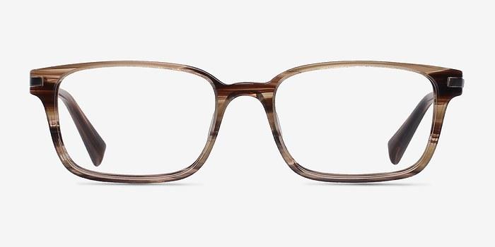 Brown/Striped Dreamer -  Designer Acetate Eyeglasses