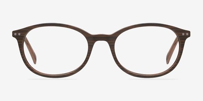 Brown/Striped Get Around -  Fashion Wood Texture Eyeglasses