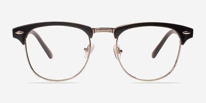 Black/Silver Coexist -  Geek Metal Eyeglasses