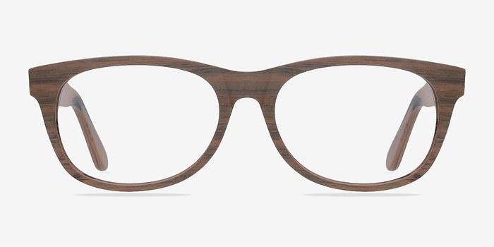 Brown/Striped Panama -  Fashion Wood Texture Eyeglasses