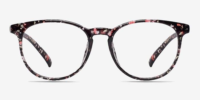 Red/Floral Chilling -  Fashion Plastic Eyeglasses