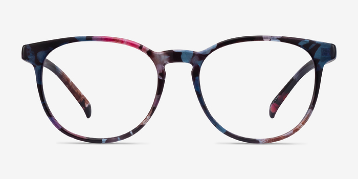 Pink/Floral Chilling -  Fashion Plastic Eyeglasses