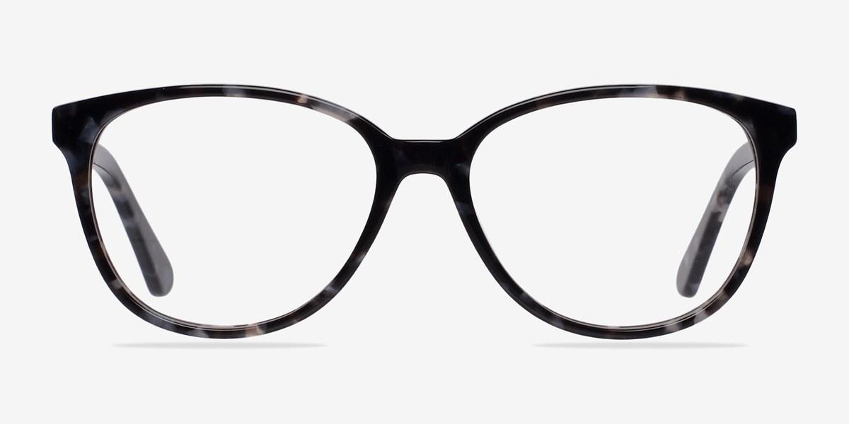 hepburn gray floral acetate eyeglasses