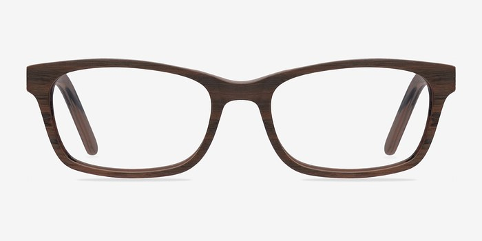 Brown Mesquite -  Classic Wood Texture Eyeglasses