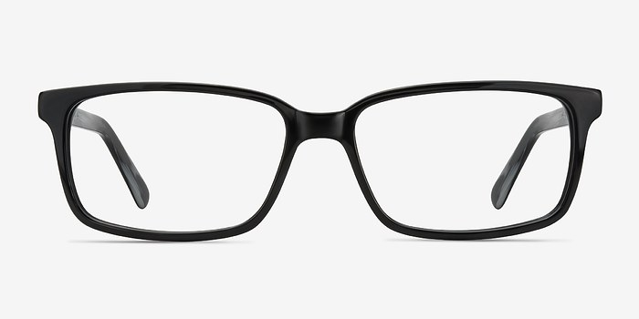 Denny BlackGray Acetate Eyeglasses EyeBuyDirect