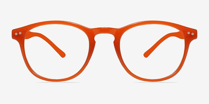 instant crush orange plastic eyeglasses