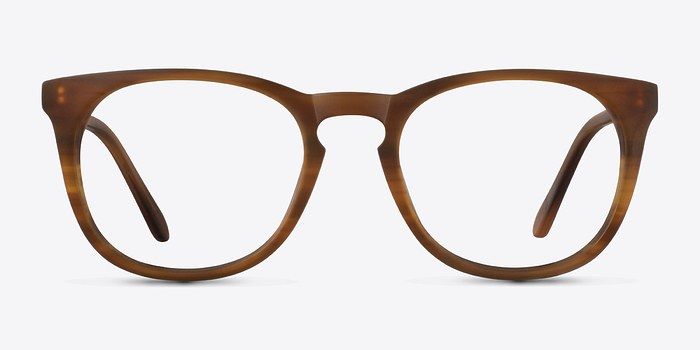 Brown Striped Providence S -  Fashion Acetate Eyeglasses