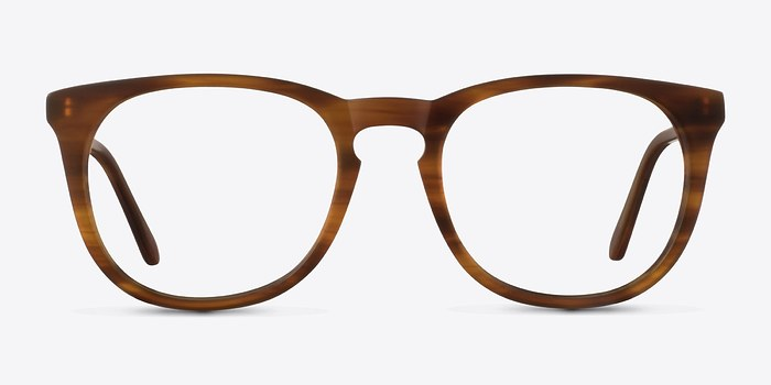 Brown Striped Providence M -  Classic Acetate Eyeglasses