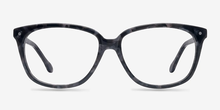 Gray Floral Escapee -  Colorful Acetate Eyeglasses