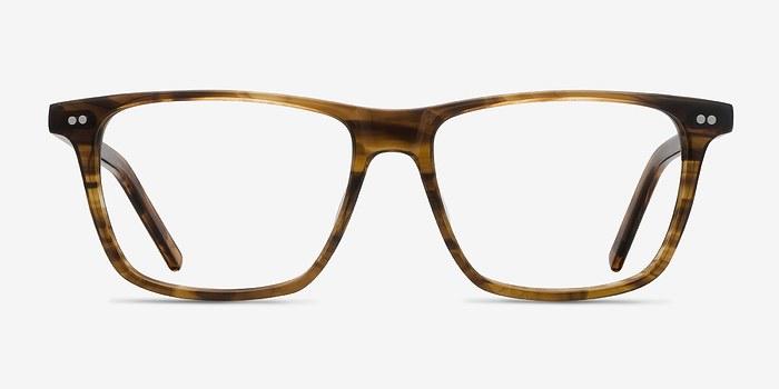 Brown Striped Default -  Acetate Eyeglasses