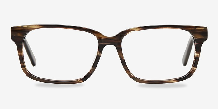 Brown Striped Edit -  Acétate Lunettes de Vue