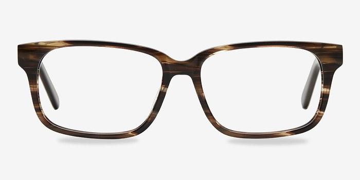 Brown Striped Edit -  Acetate Eyeglasses