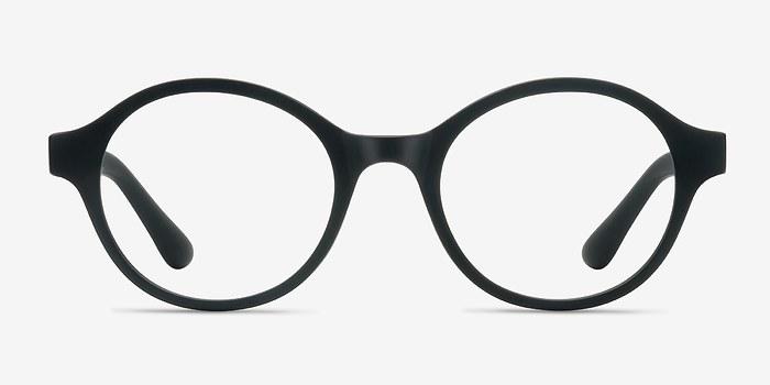 Matte Black Little Plato -  Plastic Eyeglasses