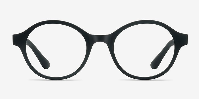 Matte Black Little Plato -  Plastic Eyeglasses